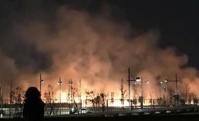 台灣燈會放煙火 竟變成大火